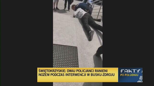 Nagranie z interwencji na twittera wrzuciła Polska Policja