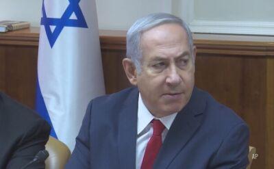 Netanjahu o krytykowanej deklaracji z Polską: wysłuchałem z wielką uwagą opinii historyków