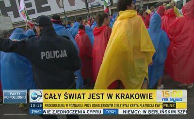 Pielgrzymi gromadzą się w Krakowie