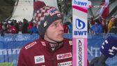 Dawid Kubacki po piątkowych kwalifikacjach w Predazzo