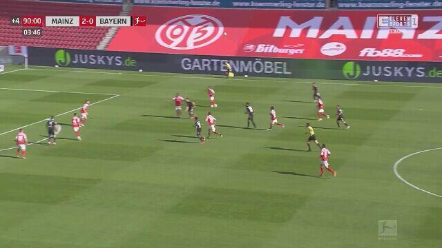 Gol Lewandowskiego przeciwko Mainz