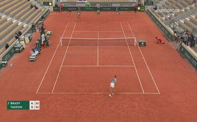 Skrót meczu 1. rundy French Open Jennifer Brady - Clara Tauson