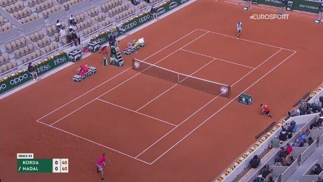 Skrót meczu 4. rundy French Open: Sebastian Korda - Rafael Nadal