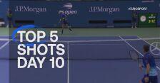 TOP 5 najlepszych zagrań 10. dnia US Open