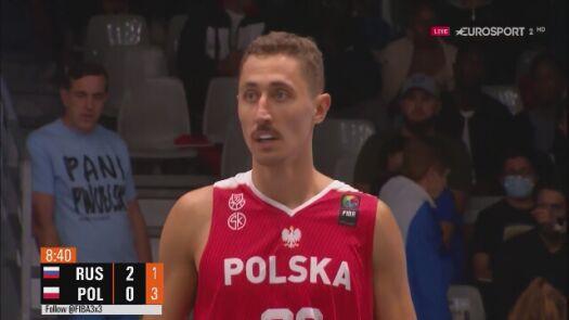 Pierwsze punkty dla Polski w meczu z Rosją o brąz ME w koszykówce 3x3