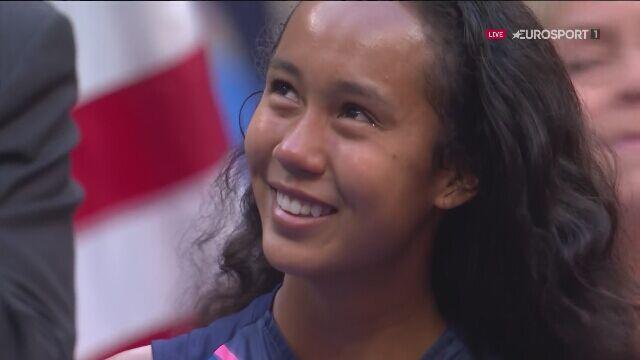 Leylah Fernandez po przegranym finale US Open