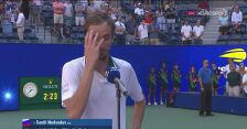 Rozmowa z Miedwiediewem po wygranej w ćwierćfinale US Open