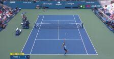 Piłka setowa dla Zvereva na 1:0 w meczu z Harrisem w ćwierćfinale US Open