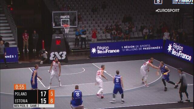 Decydujące momenty meczu Polska - Estonia na ME w koszykówce 3x3