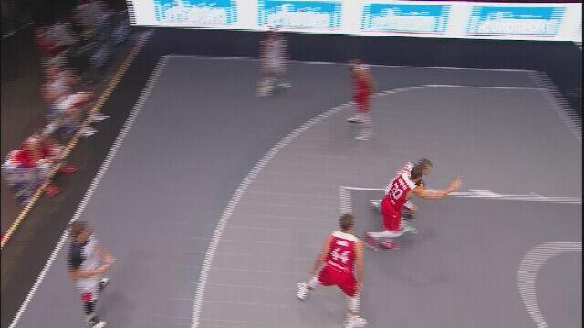 Najciekawsze momenty meczu Rosja - Polska o brązowy medal ME w koszykówce 3x3
