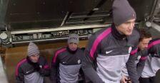 Trening piłkarzy Juventusu na Allianz Arenie