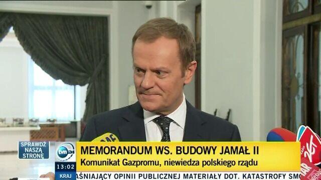 Tusk: Nic nie wiem, muszę sprawdzić te informacje