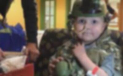 Chłopiec został mianowany pułkownikiem
