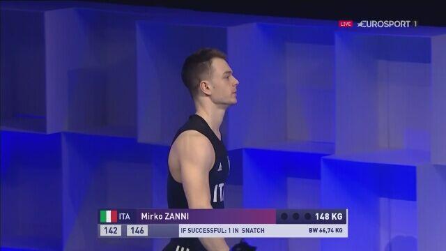Mirko Zanni ze złotym medalem ME w rwaniu do 69 kg