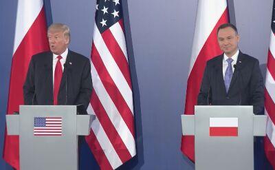 Prezydent Trump o więziach USA z Polską