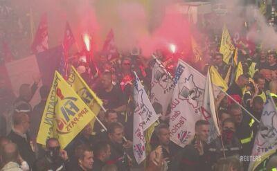 Policja starła się z demonstrującymi w Paryżu strażakami