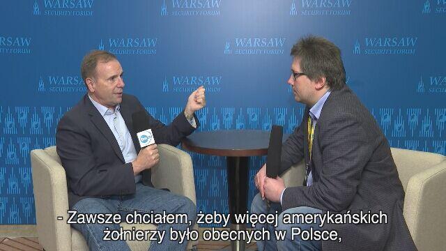 """""""Zawsze chciałem, żeby więcej amerykańskich żołnierzy było obecnych w Polsce"""""""