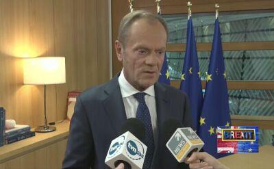 Donald Tusk: za kilka godzin powinno być jasne, co z brexitem
