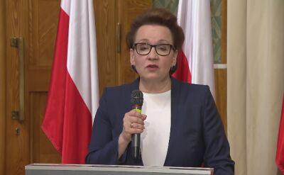 Minister edukacji przedstawia plan reformy oświaty