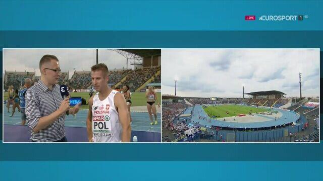 Marcin Lewandowski po biegu na drużynowych ME