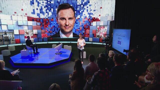 Rozpoczeła się debata z Andrzejem Dudą