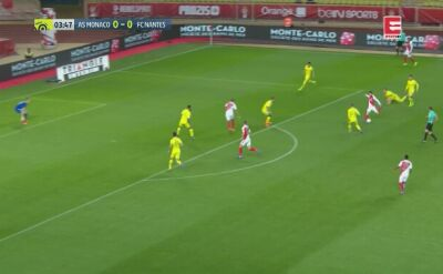 Asysta Glika w meczu Monaco z Nantes