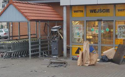 Wysadzony bankomat i policyjny pościg