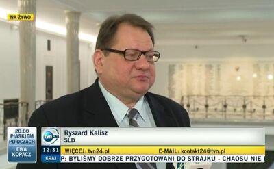 Ryszard Kalisz o podziałach w PO