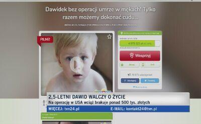 2,5-letni Dawid walczy o życie