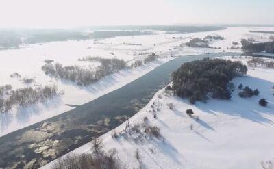 Piękne oblicze zimy. Narew na nagraniu z drona