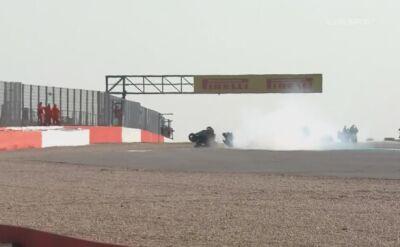 Potężna kraksa na torze Silverstone w serii British Superstock