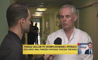 Prof. Marek Harat: uraz bardzo poważny