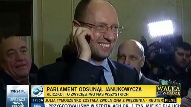 """Jaceniuk rozmawia z Tymoszenko. """"Cały kraj na ciebie czeka, Julio"""""""