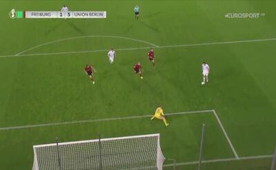 Gol Christiana Gentnera w meczu Freiburg - Union Berlin