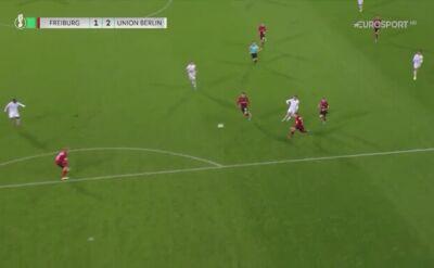 Gol Roberta Andricha w meczu Freiburga z Unionem Berlin