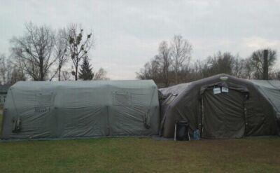 Policyjni antyterroryści będą spać w namiotach