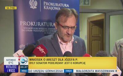 Wniosek o areszt dla Józefa Piniora, byłego senatora PO