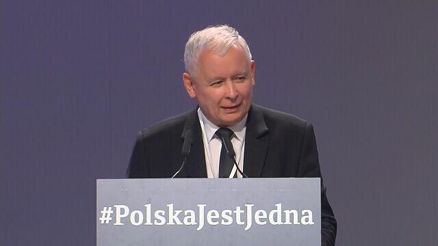 Kaczyński na kongresie PiS i Zjednoczonej Prawicy