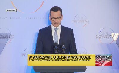 Przemówienie Mateusza Morawieckiego na szczycie w Warszawie