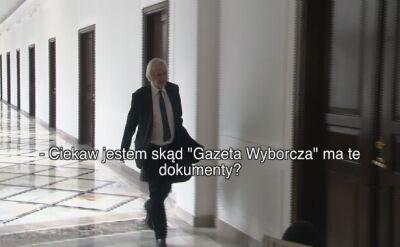 """Terlecki: ciekaw jestem, skąd """"Gazeta Wyborcza"""" ma dokumenty"""