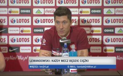 Robert Lewandowski o strzelaniu bramek w kadrze