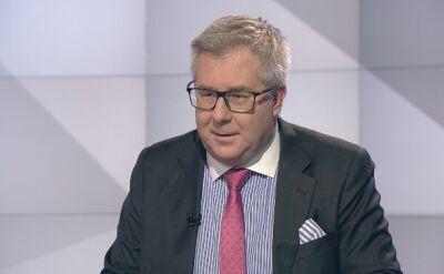 """""""Żadnych ran nie ma, nikt nie krwawi"""". Ryszard Czarnecki o debacie """"Czas decyzji"""" w TVN24"""