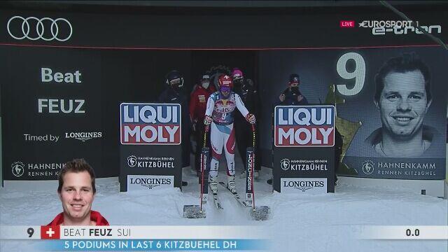 Beat Feuz po raz drugi najlepszy w zjeździe w Kitzbuehel