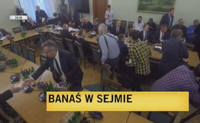 Marian Banaś na posiedzeniu sejmowej komisji