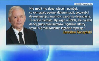 Kaczyński broni Piotrowicza: nie zrobił nic złego