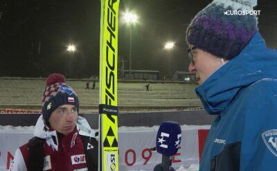 Kamil Stoch po kwalifikacjach w Ruce