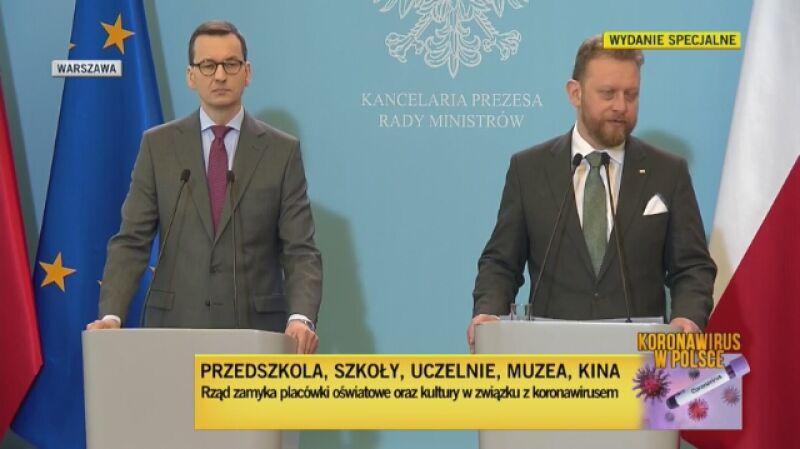 Minister zdrowia mówił o działalności Agencji Rezerw Materiałowych w związku z rozprzestrzenianiem się w Polsce koronawirusa (nagranie z 11 marca)