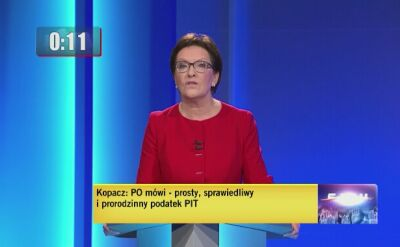 Ewa Kopacz odpowiada na drugie pytanie
