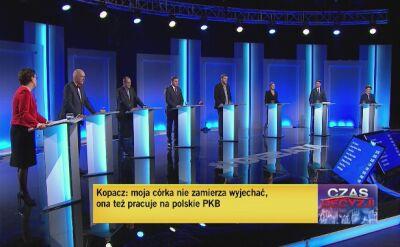 Uczestnicy debaty odpowiadają na pytanie o zadłużenie