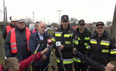Konferencja wojewody, straży pożarnej i operatora gazociągu
